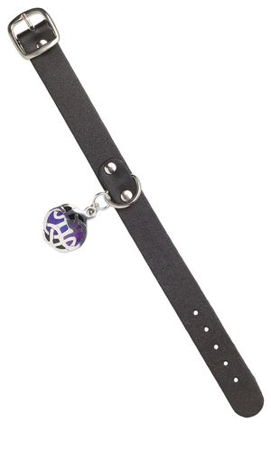 Bracelet with Black Leather and Pewter Celtic Knot Pendant - Fire Mountain Gems and Beads