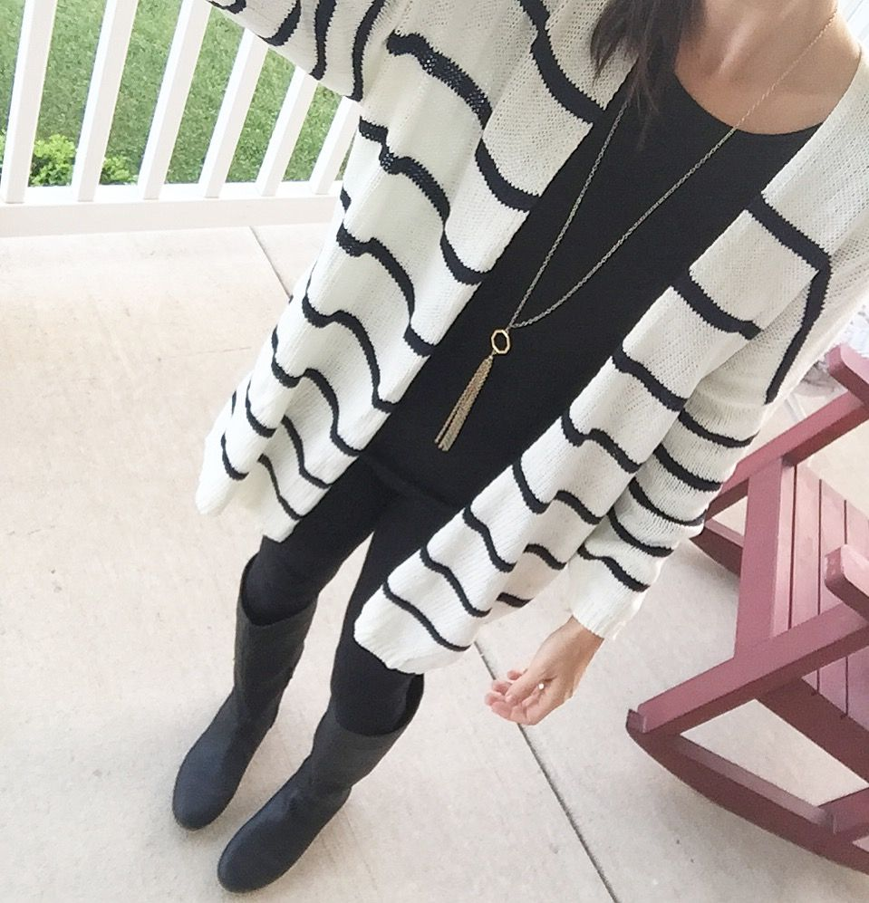 black and white cardigan outfit, black and white, cardigan outfits ...
