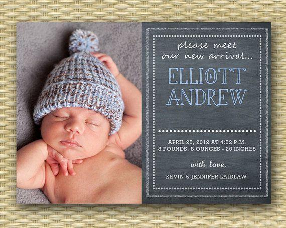 Chalkboard Birth Announcement Baby Boy Birth Announcement Baby Etsy Birth Announcement Boy Baby Boy Announcement Birth Announcement