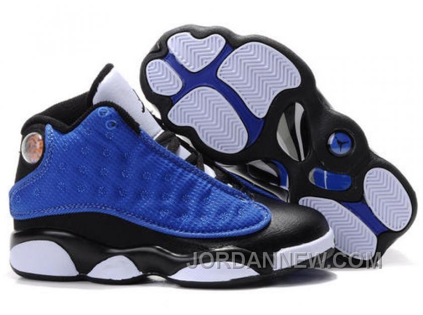 Kid's Nike Air Jordan 13 Shoes Black/Blue/White New Release