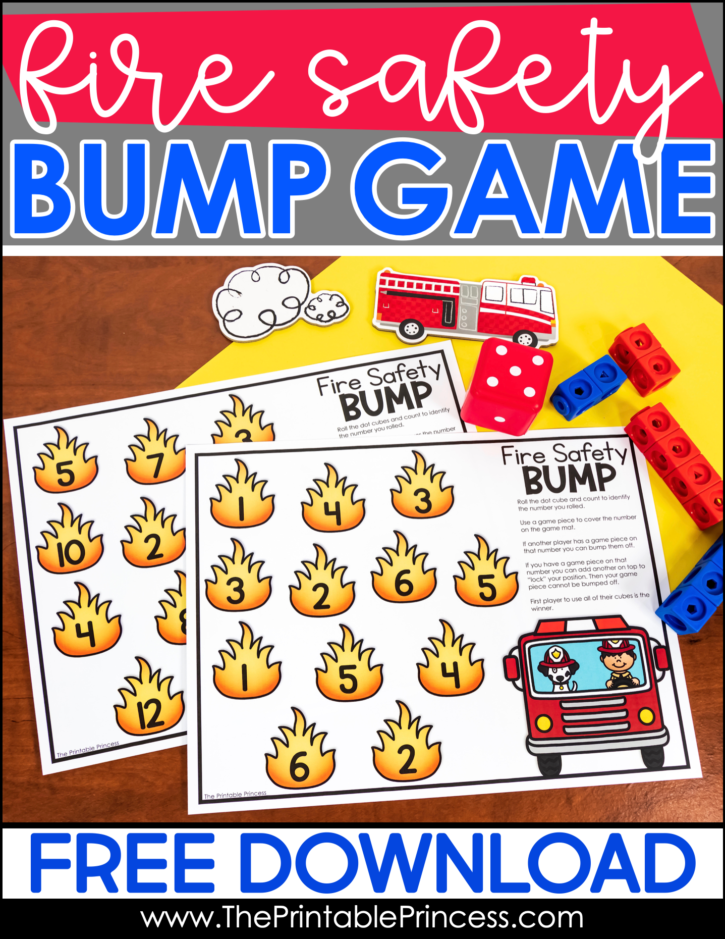 Free Fire Safety Math Game Fire Safety Math Fire Safety Free Community Helpers Math Activities [ 1860 x 1437 Pixel ]