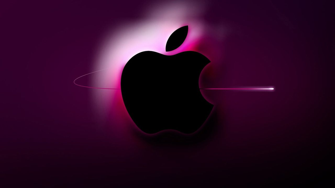 3d pink apple logo wallpapers hd | ipad pro & others wallpaper