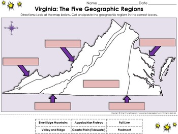 Regions Of Virginia The Five Geographical Regions Of Virginia Cut