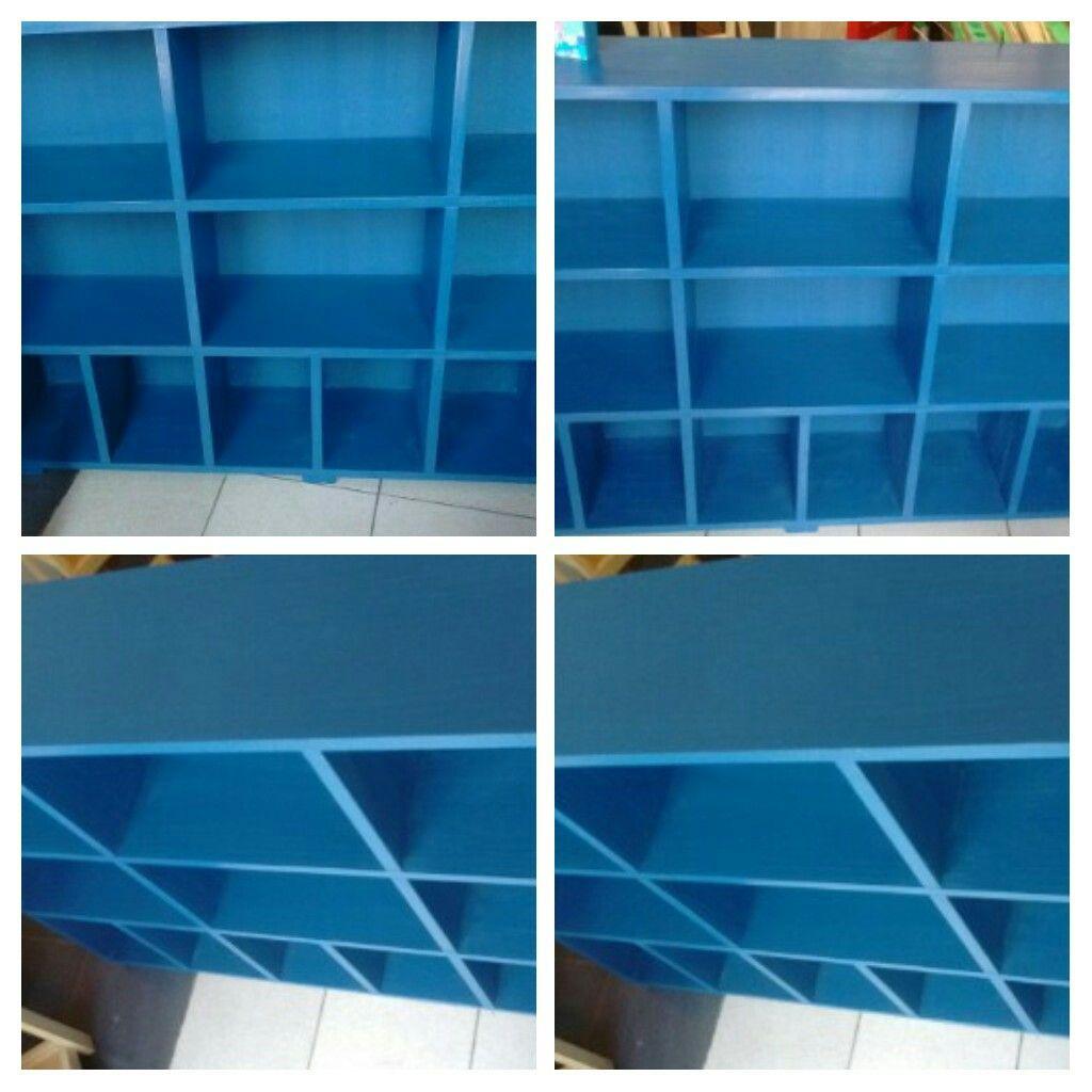Biblioteca 120x24x80 Intervenida En Color Pleno By Liliana Pal  # Muebles Liliana