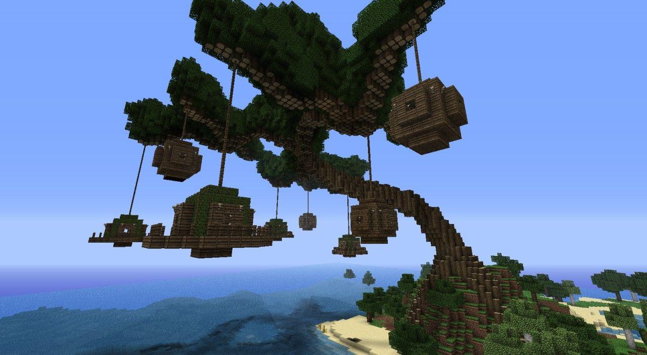 Tree Village Minecraft Map Village