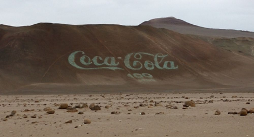 """""""El Hacha"""", in Arica (Chile), the Worldest biggest Coca-Cola ad. Link in Google Maps:"""