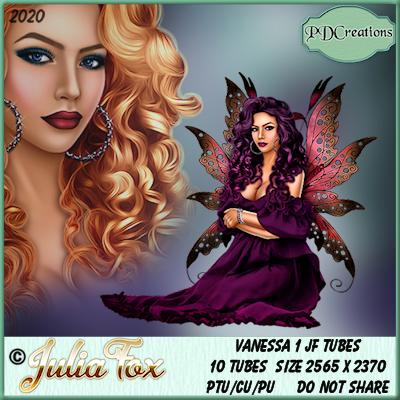 Vanessa 1 JF Tubes - Illustration store PicsForDesign.com. PSP tubes, PSD illustrations, Vector illustrations.
