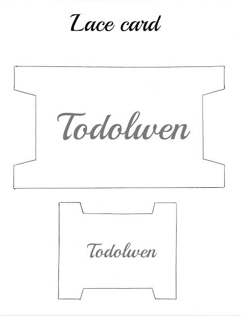 Todolwen (new): A New Tutorial ~ Lace Cards
