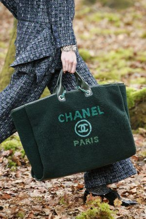 75251451ef4d Chanel Green Shearling Deauville Shopping Bag - Fall 2018 | 2018 in ...