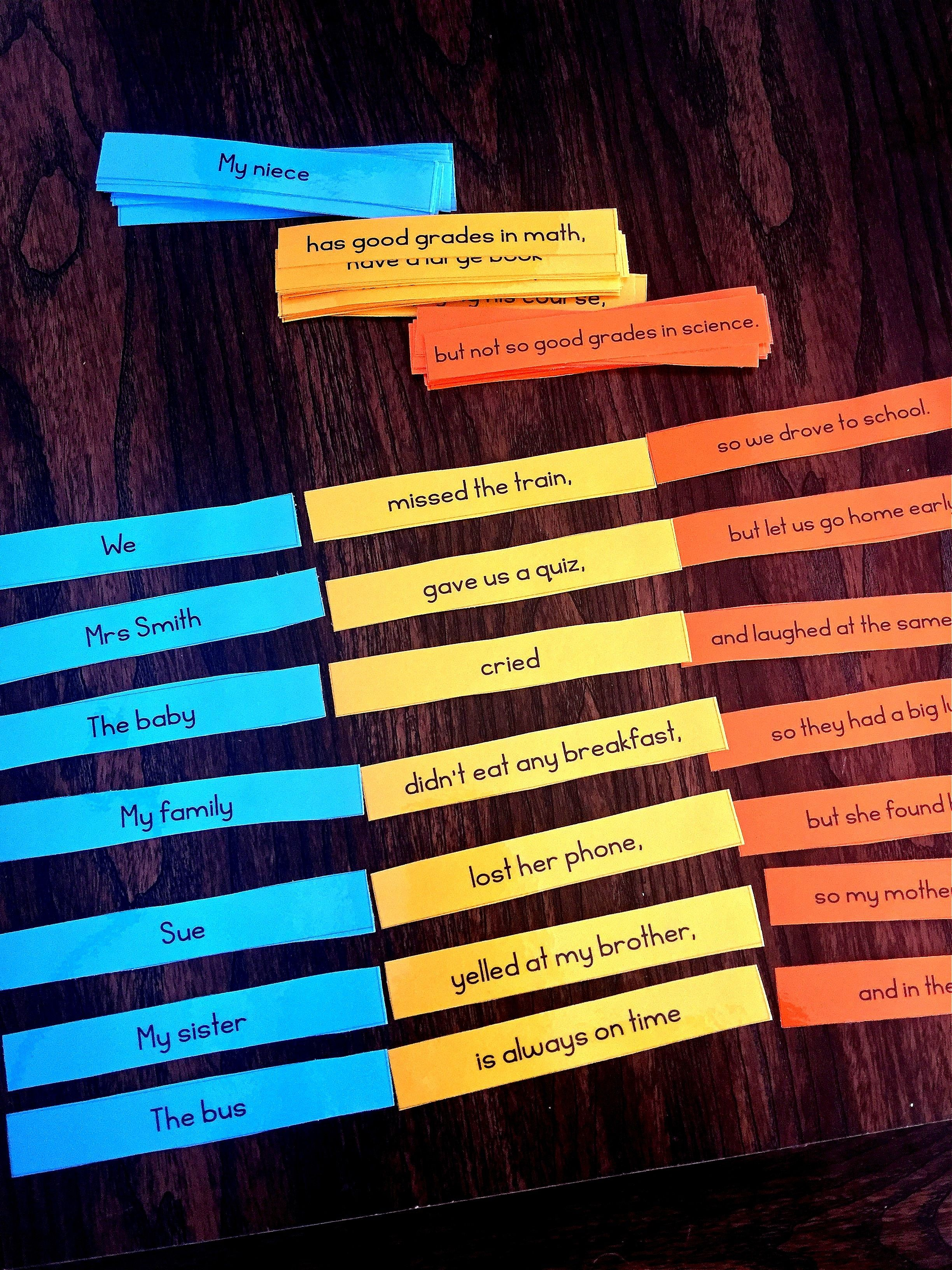 Help Your Esl Students Build Sentences And Understand Sentence Word Order When You Setup This Fun And Engaging Center To Practice Usin Word Cards Esl Sentences [ 3264 x 2448 Pixel ]