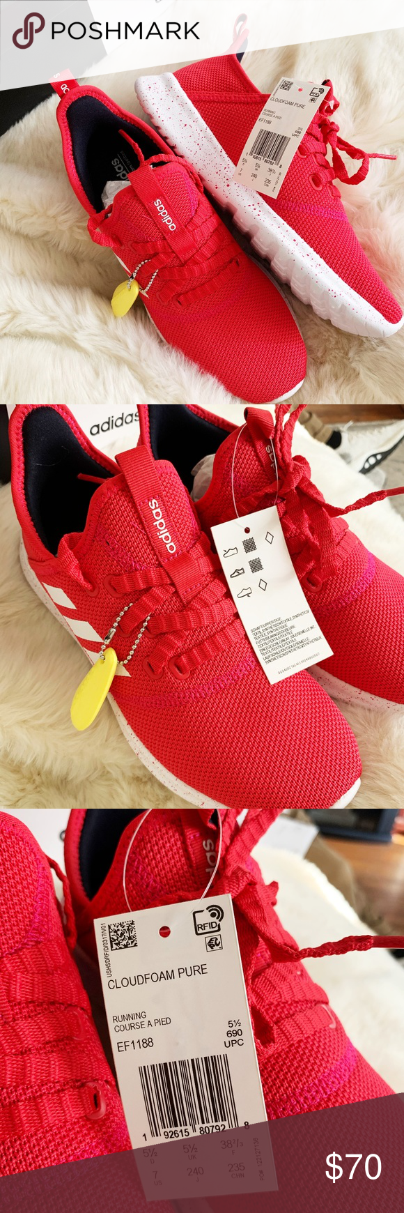 red adidas trainers women