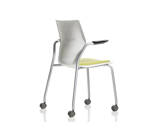 MultiGeneration By Knoll Stacking Chairs With Casters Encourages  Collaboration With A Responsive, Open Design That Supports Multiple  Postures And A ...