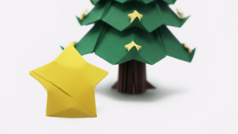 Origami Lucky Stars for the Christmas Tree | Christmas ... - photo#36