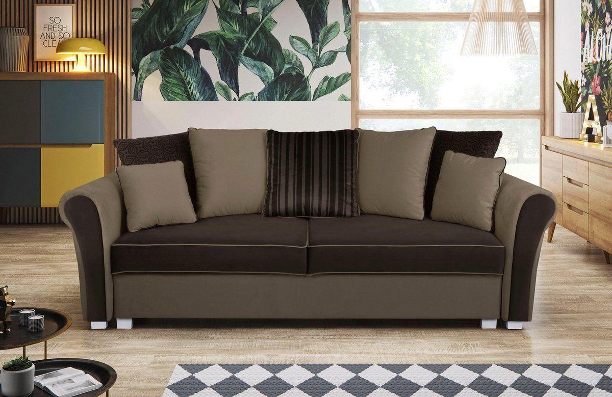 3 Sitzer Mit Bettfunktion Und Bettkasten Wohnen Haus Deko Und Bettkasten