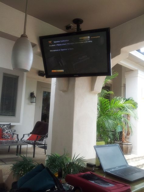 Outdoor Patio Tv Mounting Patio Tv Backyard Patio Outdoor Rooms