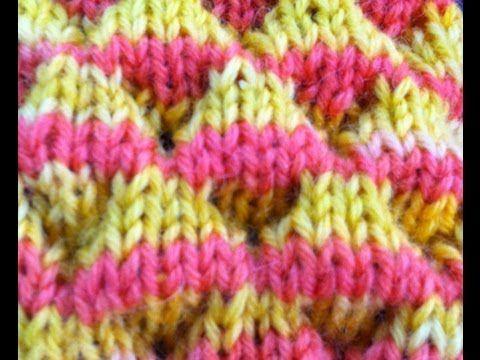 Knit Dimple Stitch aka Bubble Stitch   Knitting ideas   Pinterest ...