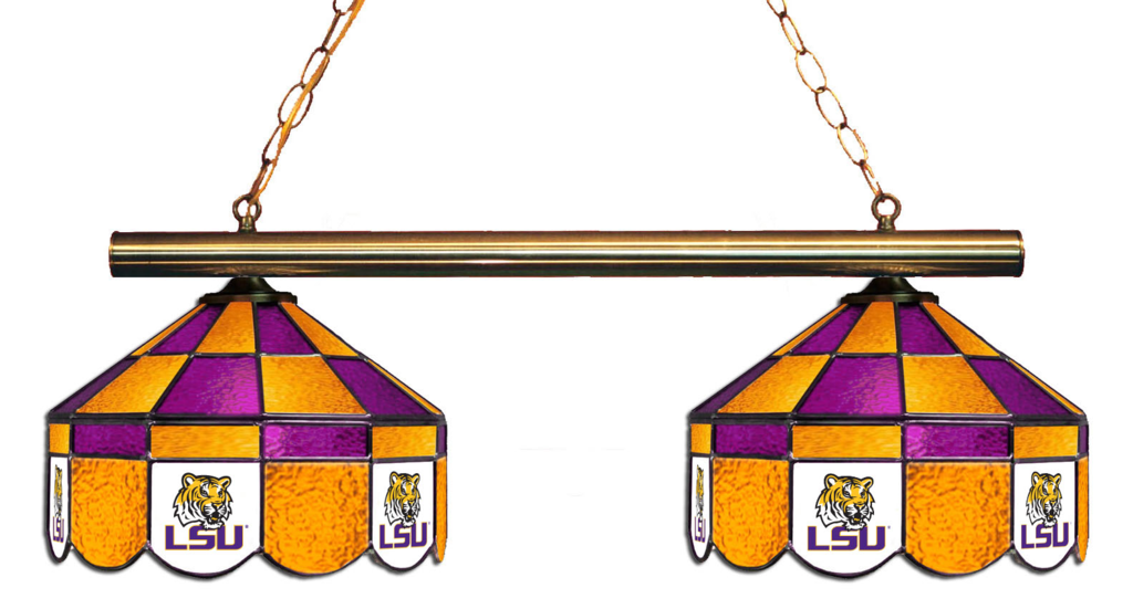 Lsu Tigers Stained Glass 2 Light Executive Game Table Light Light Table Stained Glass Chandelier Stained Glass Light