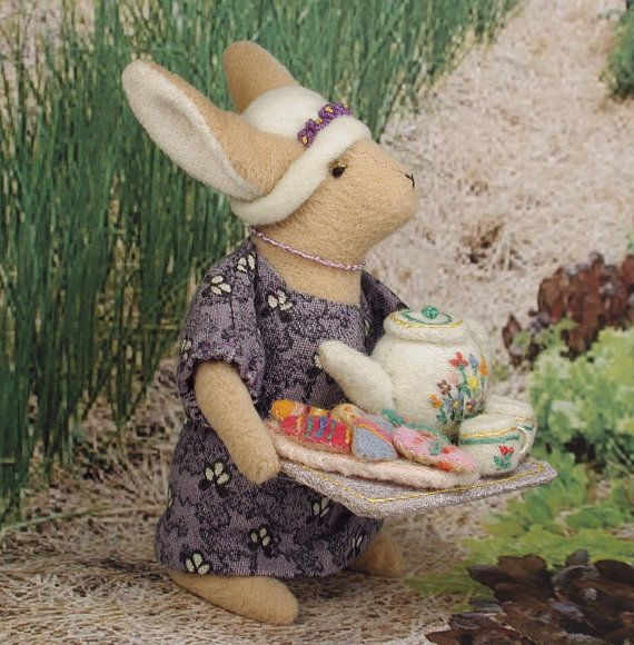 Easter Teaa New Soft Sculpture Rabbit for Spring by alicesanimals, $158.00