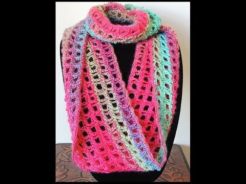 Crochet Bufanda Infinita 5 Youtube Croche Videos Peas
