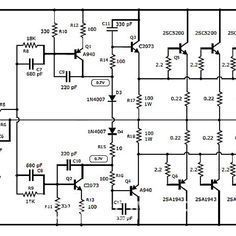 1000W Stereo Audio Amplifier with Transistor 2SC5200 2SA1943 | pcb ...