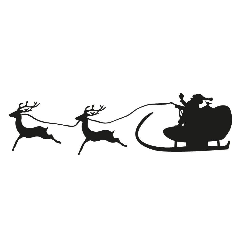 weihnachtsmann mit schlitten santa clause mit rentieren. Black Bedroom Furniture Sets. Home Design Ideas