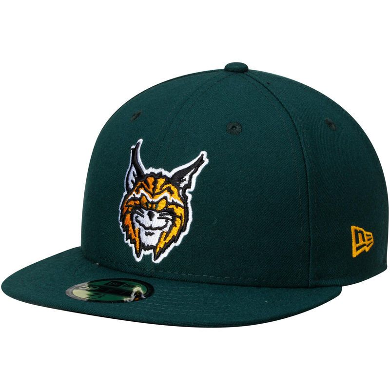 93a08b5e26b Lynchburg Hillcats New Era Authentic Home 59FIFTY Fitted Hat - Green ...