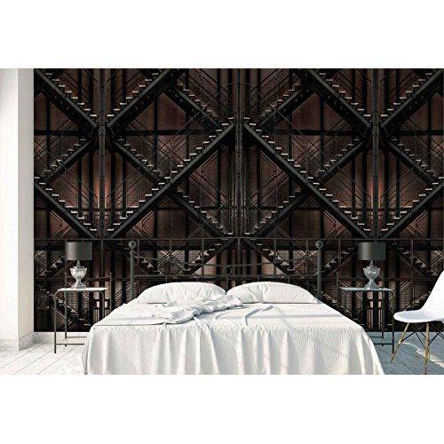 murando - Fototapete 350x245 cm - Vlies Tapete - Moderne Wanddeko - graue wand und stein
