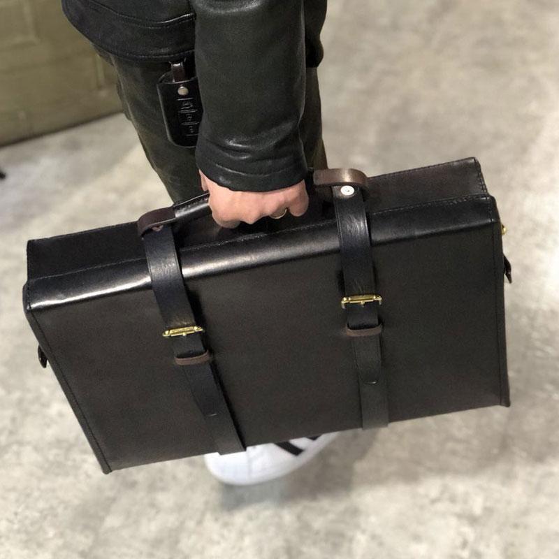 c32fbe446e6a Handmade Leather Mens Cool Business Bag Messenger Bag Briefcase Work B –  iwalletsmen