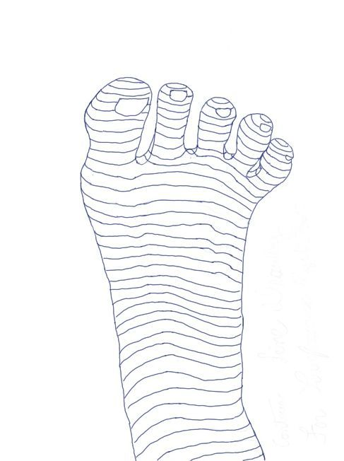 Right Foot with Contour Lines | Feet Anatomy for Artists | Pinterest ...