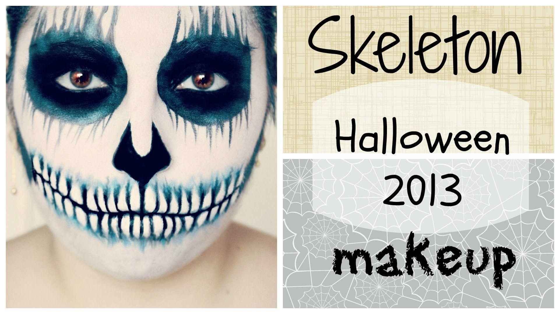 Skeleton Makeup Tutorial ♡ Halloween 2013 Skeleton