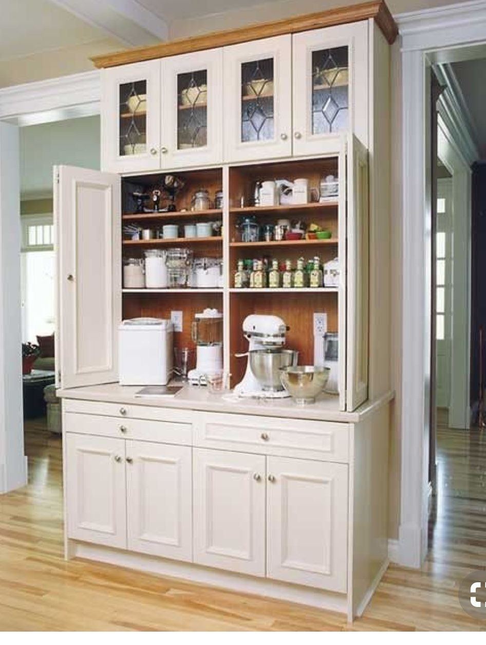 Baking Center Bakers Cabinet Cupboard Kitchen Corner Pantry