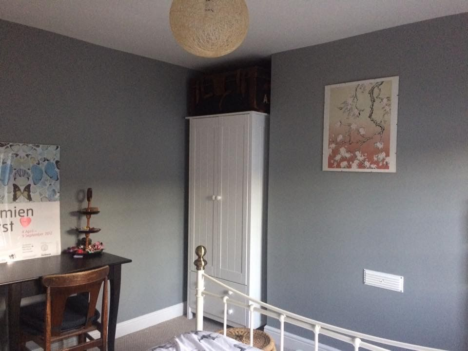 Best Bedroom Painted With Farrow Ball Manor House Grey 400 x 300
