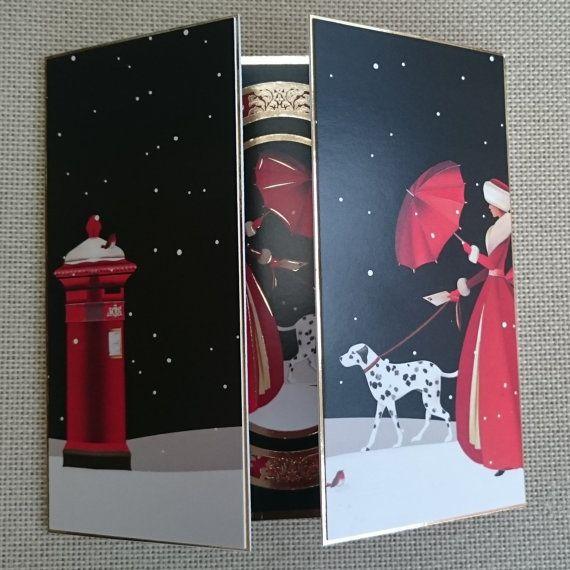 Handmade 6 x 6 Gatefold Christmas Card by BavsCrafts on Etsy