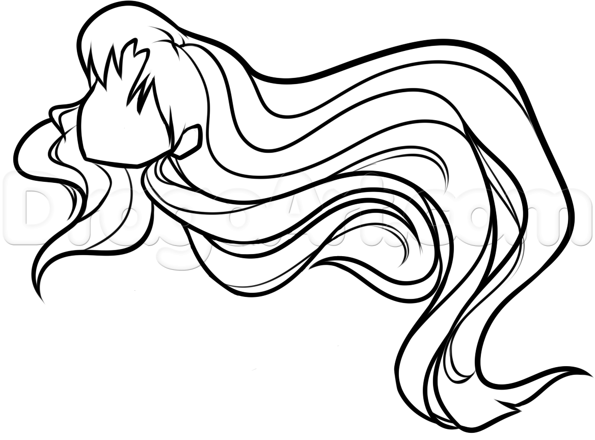Wondrous How To Draw Anime Hair For Beginners Step By Step Anime Hair Hairstyles For Men Maxibearus