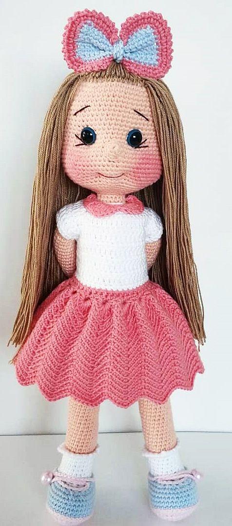 Doll amigurumi cute - FREE Amigurumi Pattern | Crochet dolls free ... | 1079x476