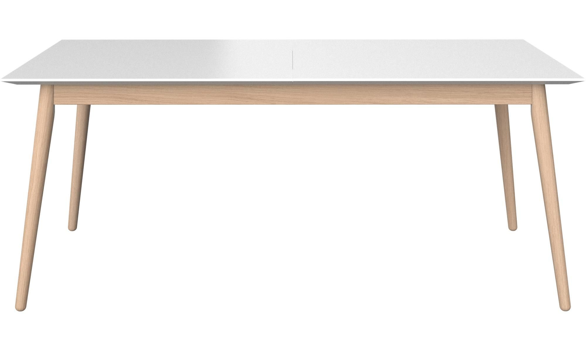 Mia Modern White Lacquer Dining Table Dining Table In Kitchen