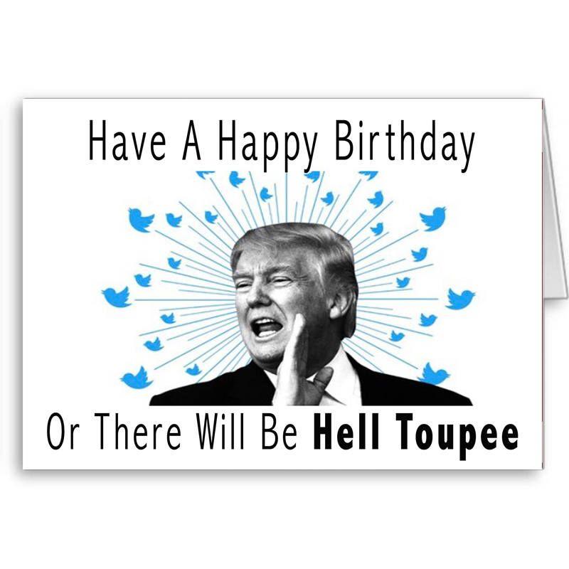 Trump Birthday Card Funny Trump Card Political Card Birthday – Happy 50th Birthday Cards Funny