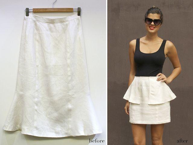 DIY Peplum Skirt | Vestuario Mujer | Pinterest | Faldas peplum ...