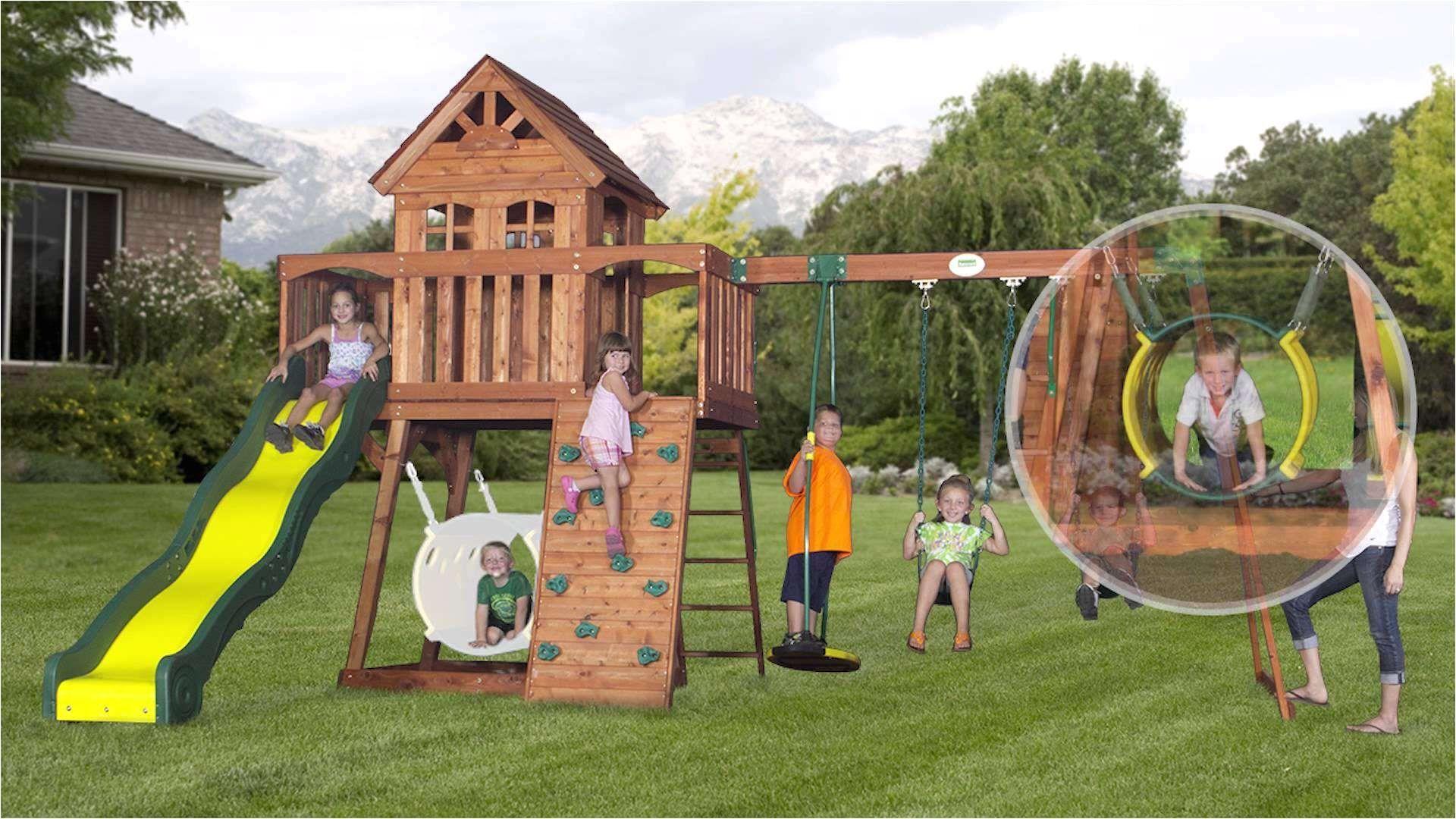 Backyard Discovery Montpelier Cedar Wooden Swing Set Check ...