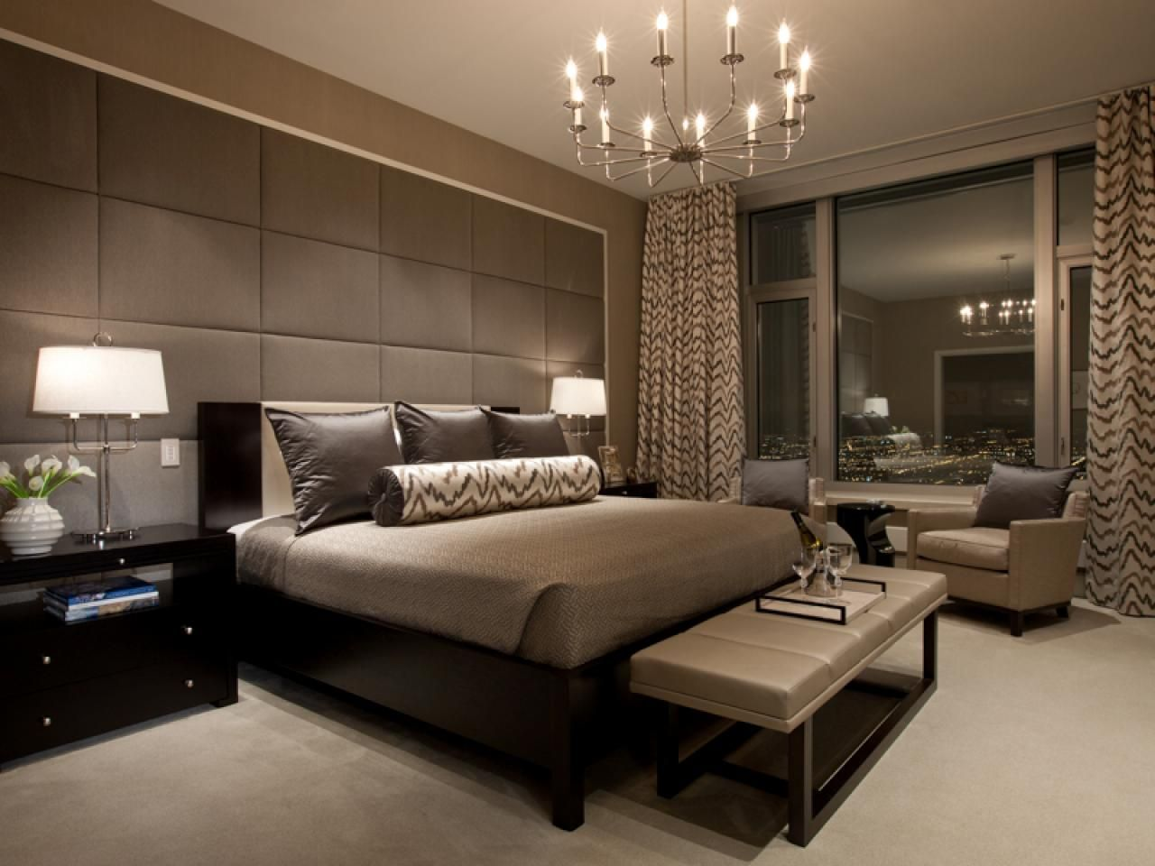Elegant Bedroom Design Cool Sanctuaries With Style  Drapery Fabric Remodeling Ideas And Hgtv Inspiration