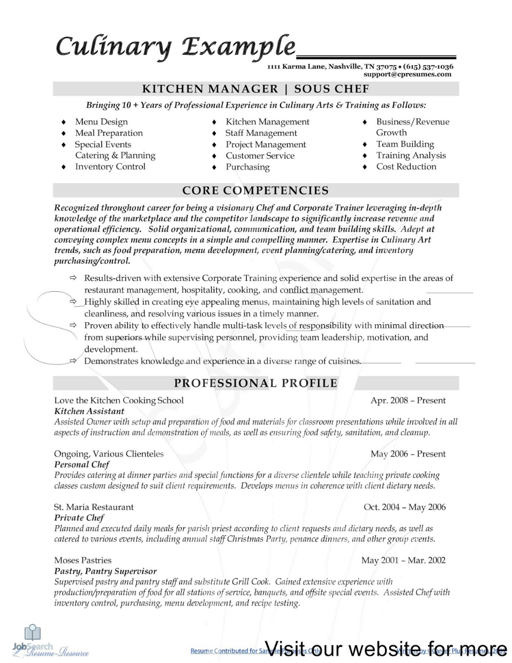 Sous Chef Resume Sample 2020 Cover Letter In 2020 Chef Resume