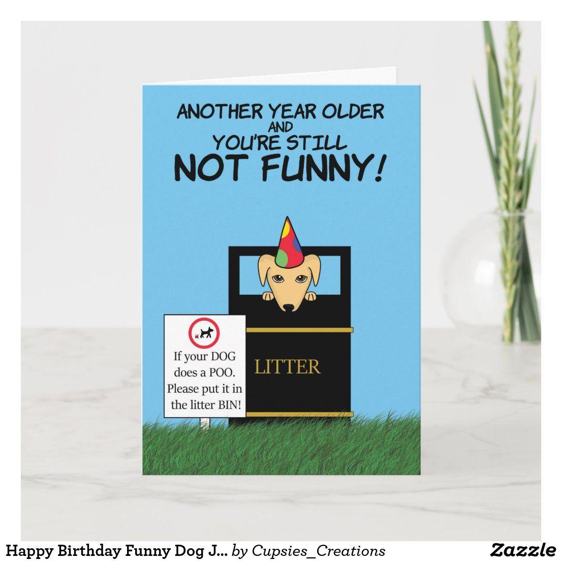 Happy Birthday Funny Dog Joke Card