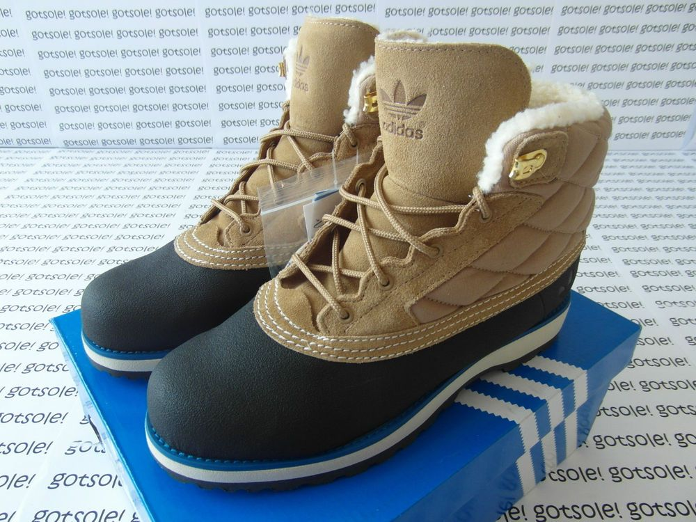 on sale 9e701 7a8c7 ADIDAS ORIGINALS MENS  ADI NAVVY QUILT  FUR BOOTS BLACK LIGHT BONE  TIMBERLAND  adidas  Boots