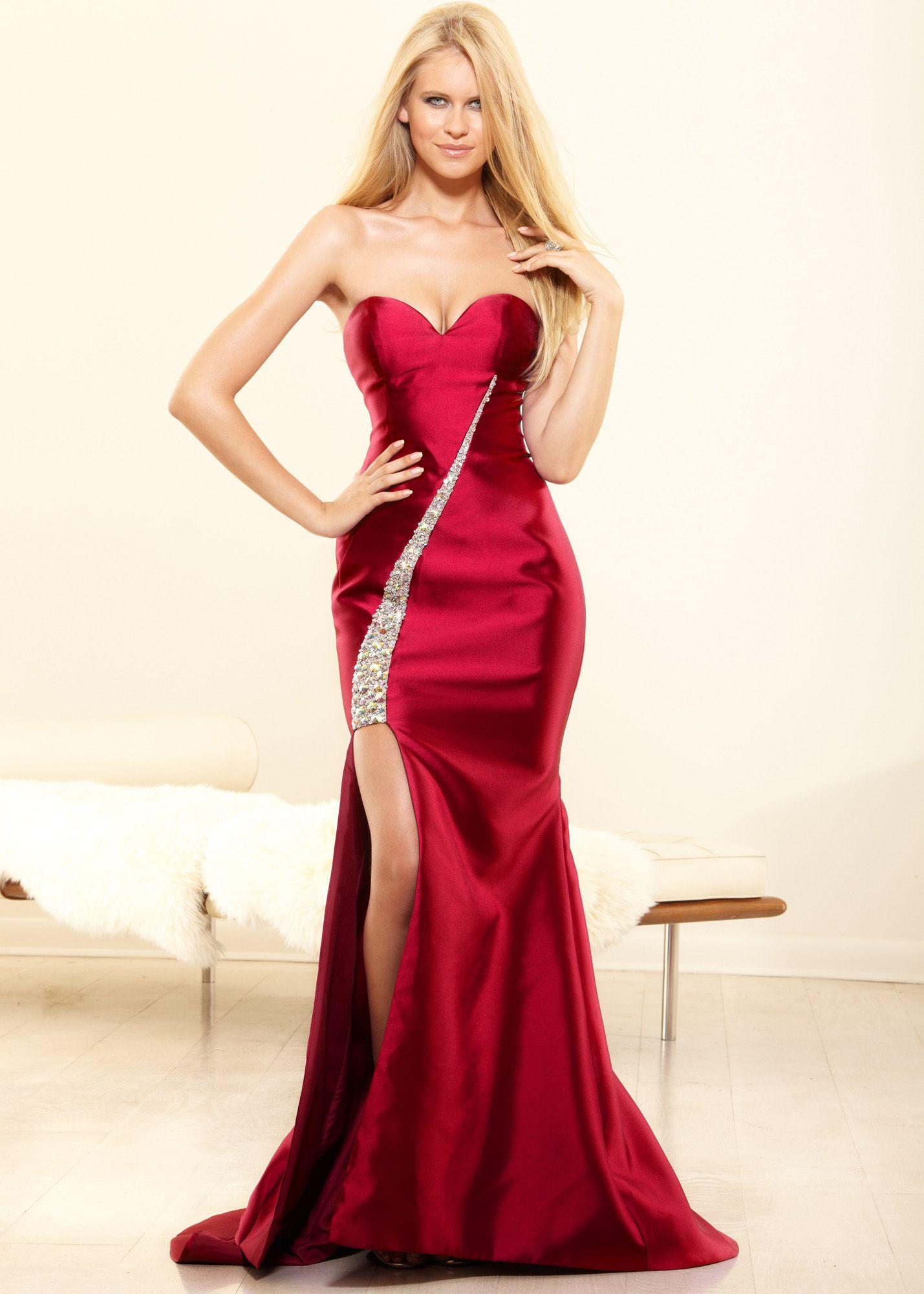 Terani Couture - 1721E4121 Strapless Floral Ruffled Peplum