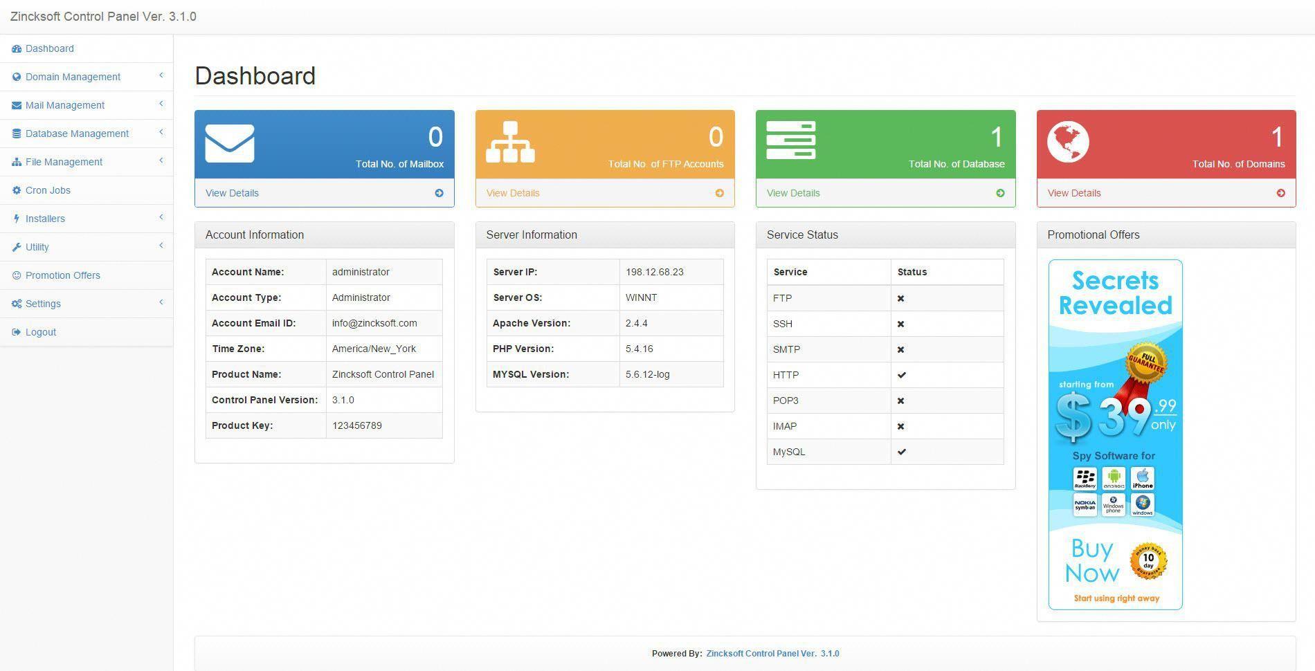 15+ Free hosting control panel viral