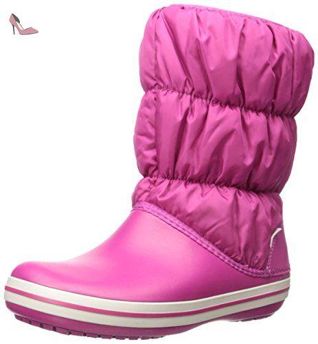 Crocs Winter Puff Boot, Bottes de Neige Femme - Rose (Berry 675), 41/42 EU