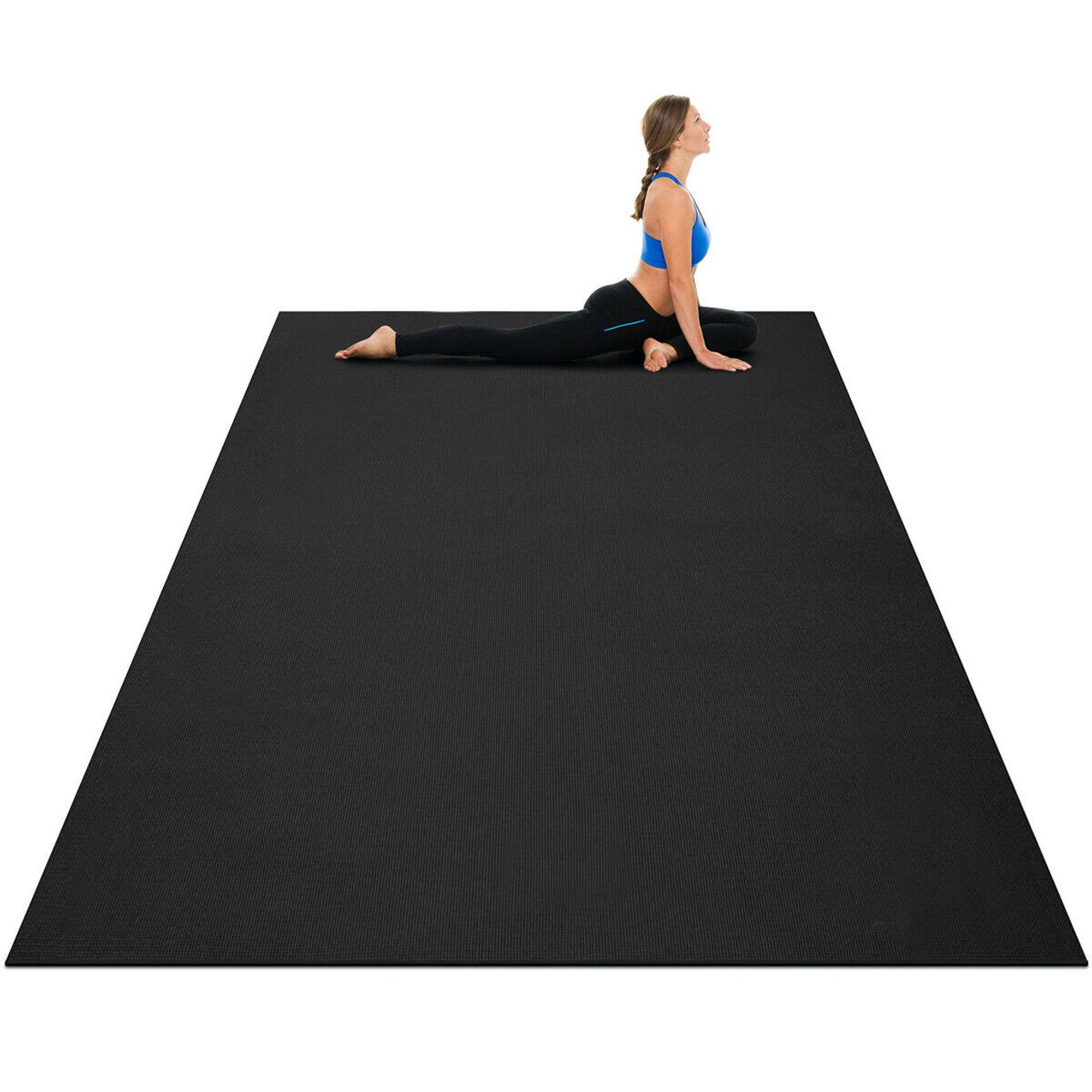 Gymax Large Yoga Mat 7 X 5 X 8 Mm Thick Workout Mats For Home Gym Flooring Walmart Com Walmart Com In 2020 Large Yoga Mat Thick Exercise Mat Gym Flooring