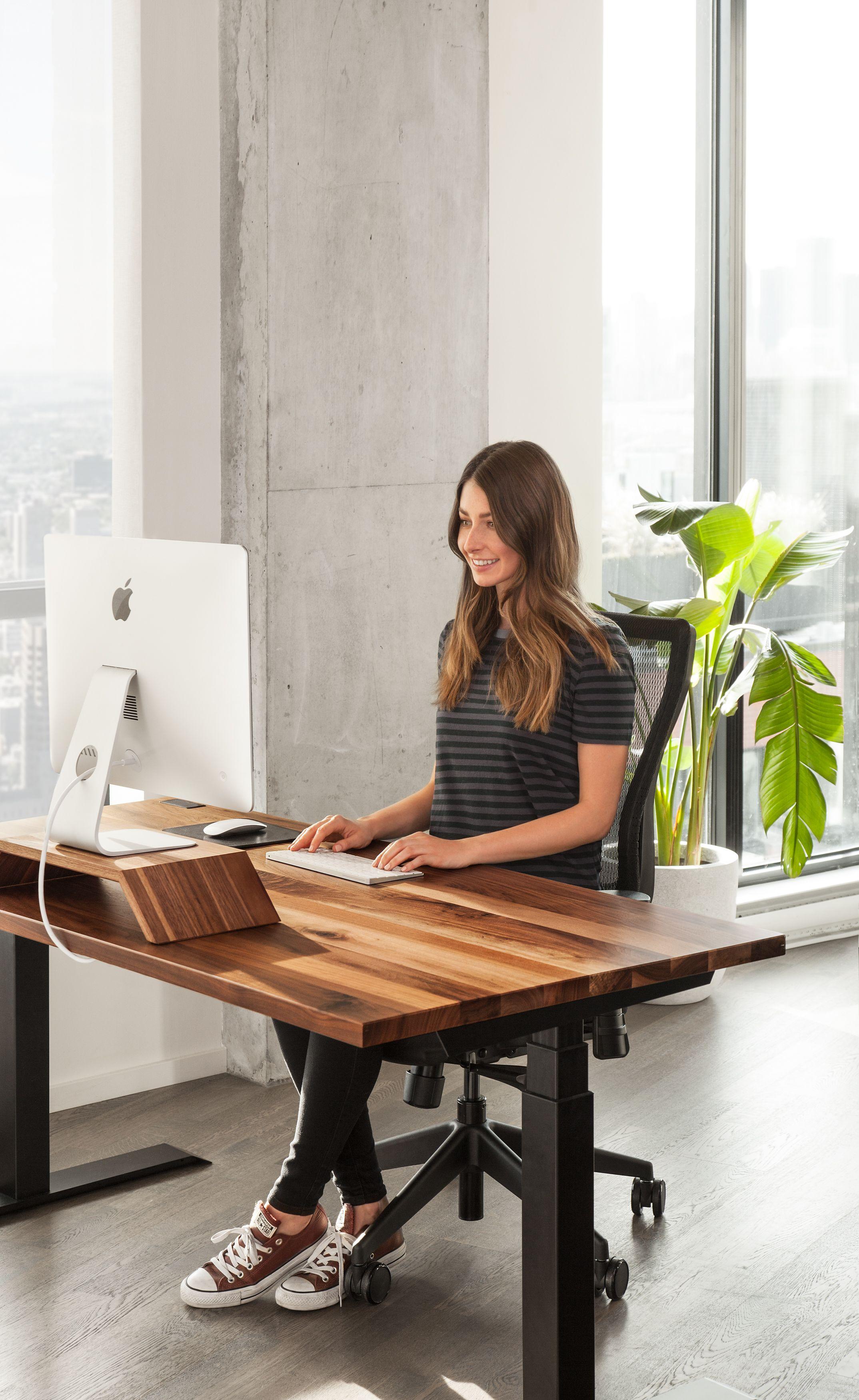 Ergonofis Sit Stand Desk Sway Sit Stand Desk Desk Walnut Desks