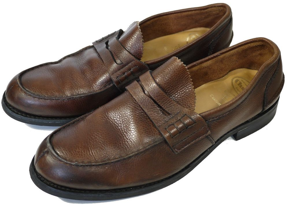 CHURCH'S SHOES LOAFERS MEN'S SIZE UK 7.5 BROWN SUEDE