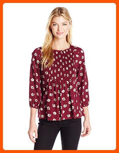 2a7734180e9e3 Blu Pepper Women s Floral Print Jacquard Long Sleeve Top